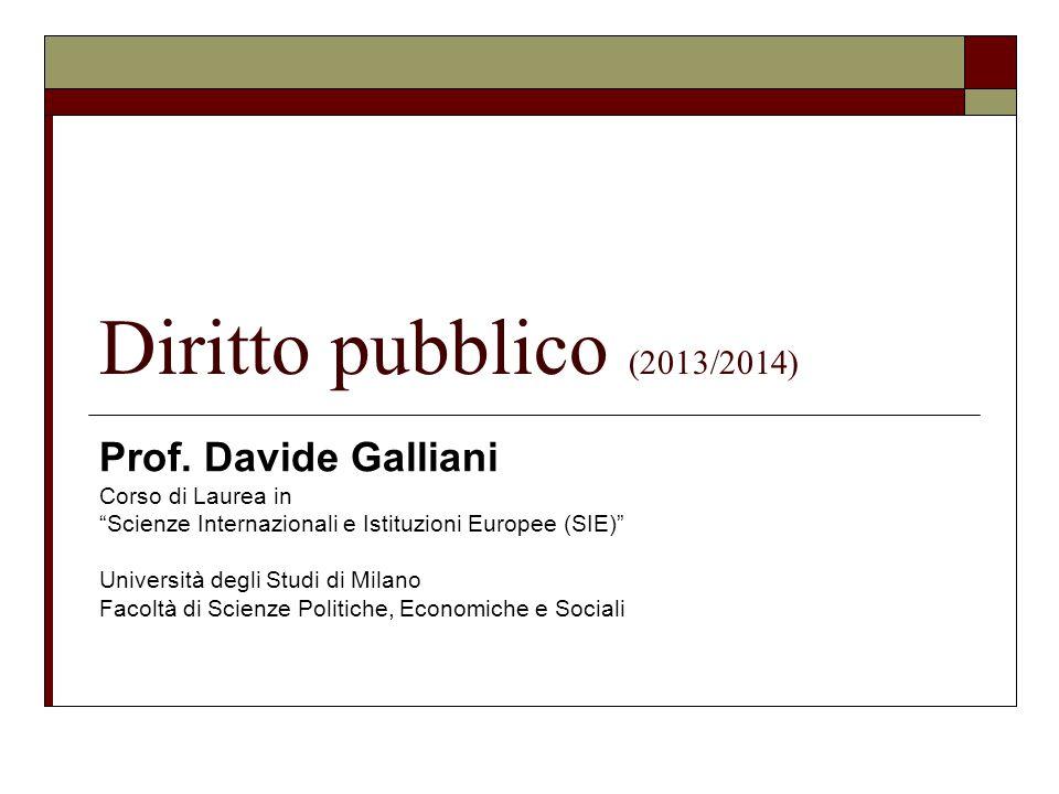 Diritto pubblico (2013/2014) Prof.