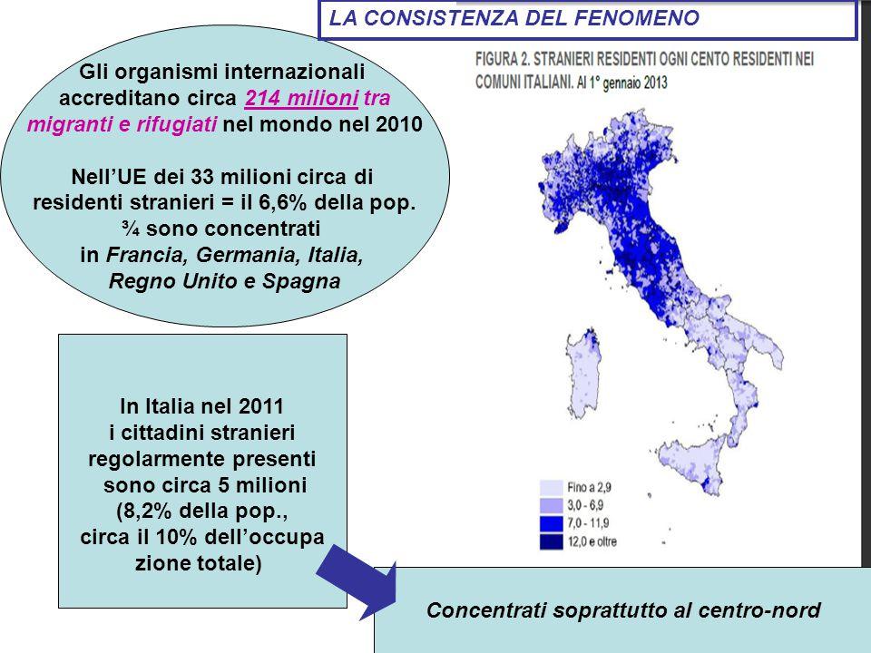 Popolazione straniera residente in % della popolazione totale (nei primi 10 UE paesi per numero di residenti) 1° gennaio 2012 IMMIGRAZIONE STRANIERA IN VENETO Rapporto 2013 8%