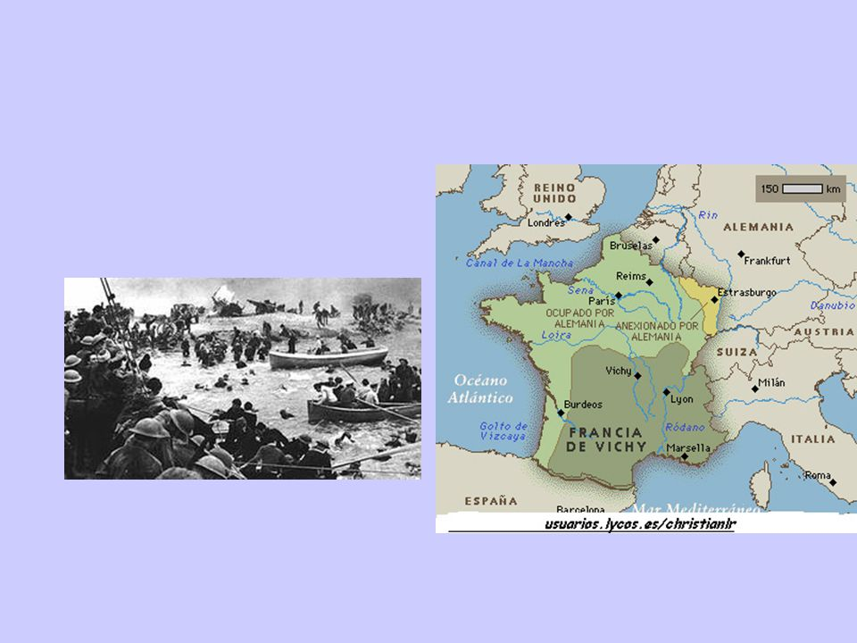 1944 Overlord 6 giugno sbarco aereo-navale in Normandia In 4 settimane, 1 milione e mezzo di uomini dilaga nel nord della Francia fino a Parigi Si uniscono le truppe partigiane di De Gaulle 26 agosto liberazione di Parigi; poi Belgio Alleati si spingono dentro il Reich in gara coi sovietici; bombardamenti sulle città tedesche (1 milione mezzo di tonnellate )