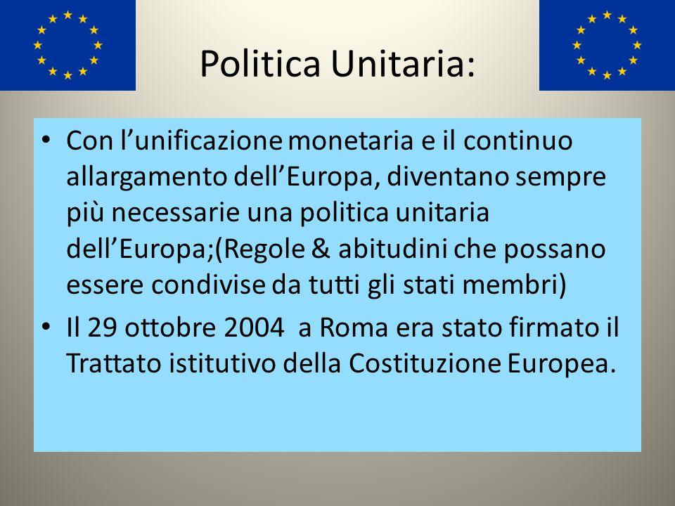 L'euro: L'elemento che ha inciso più concretamente nell'unione europea è stato l'euro. A partire dal sistema monetario europeo il cammino verso la mon