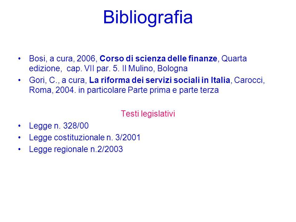 Bibliografia Bosi, a cura, 2006, Corso di scienza delle finanze, Quarta edizione, cap.