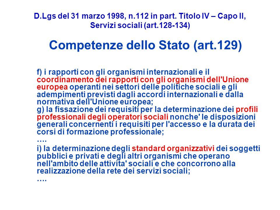 D.Lgs del 31 marzo 1998, n.112 in part.