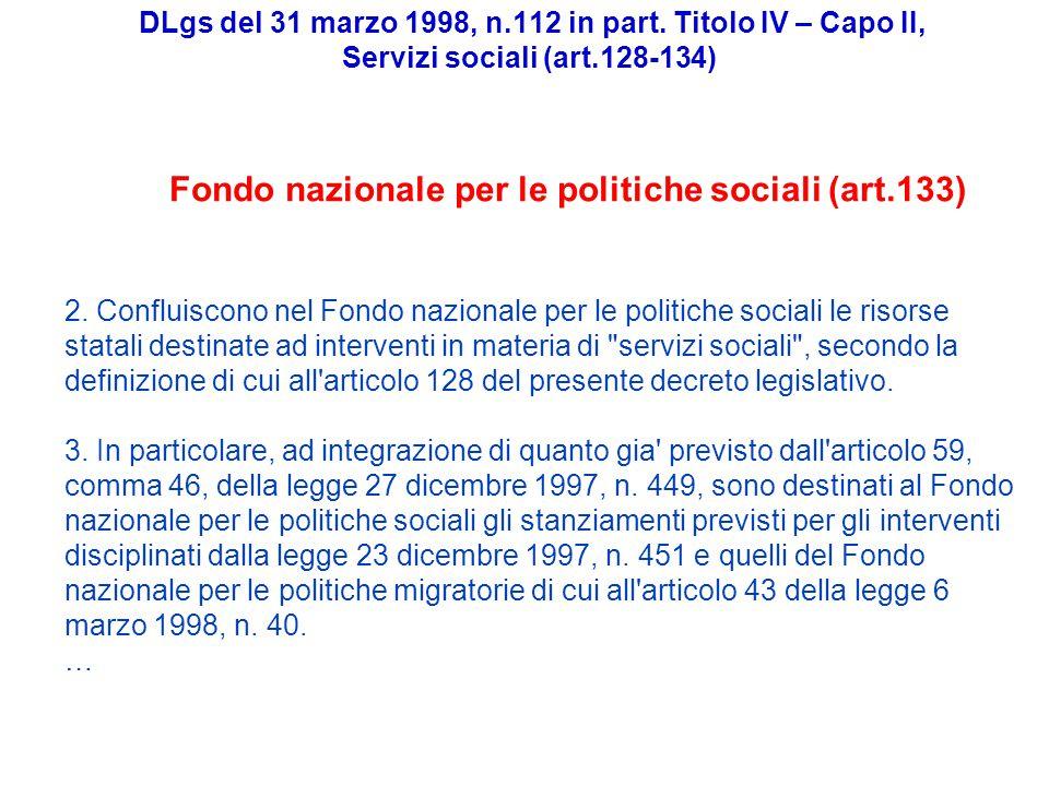 DLgs del 31 marzo 1998, n.112 in part.