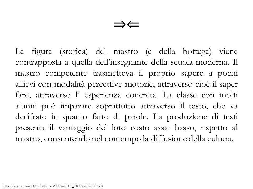 http://access.unict.it/bollettino/2002%2F1-2_2002%2F76-77.pdf ⇒⇐ La figura (storica) del mastro (e della bottega) viene contrapposta a quella dell'ins