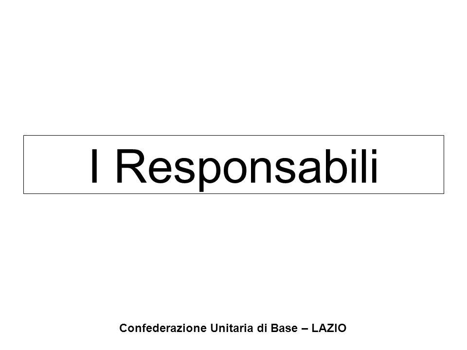 Confederazione Unitaria di Base – LAZIO I Responsabili