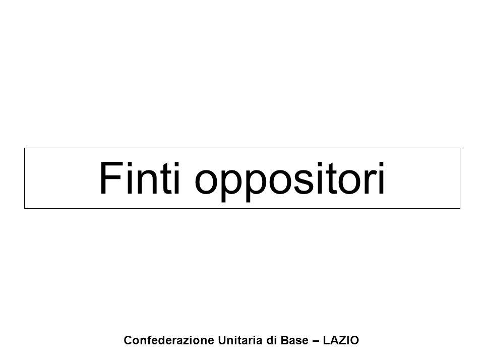 Confederazione Unitaria di Base – LAZIO Finti oppositori