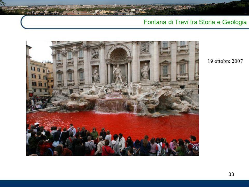 33 Fontana di Trevi tra Storia e Geologia 19 ottobre 2007