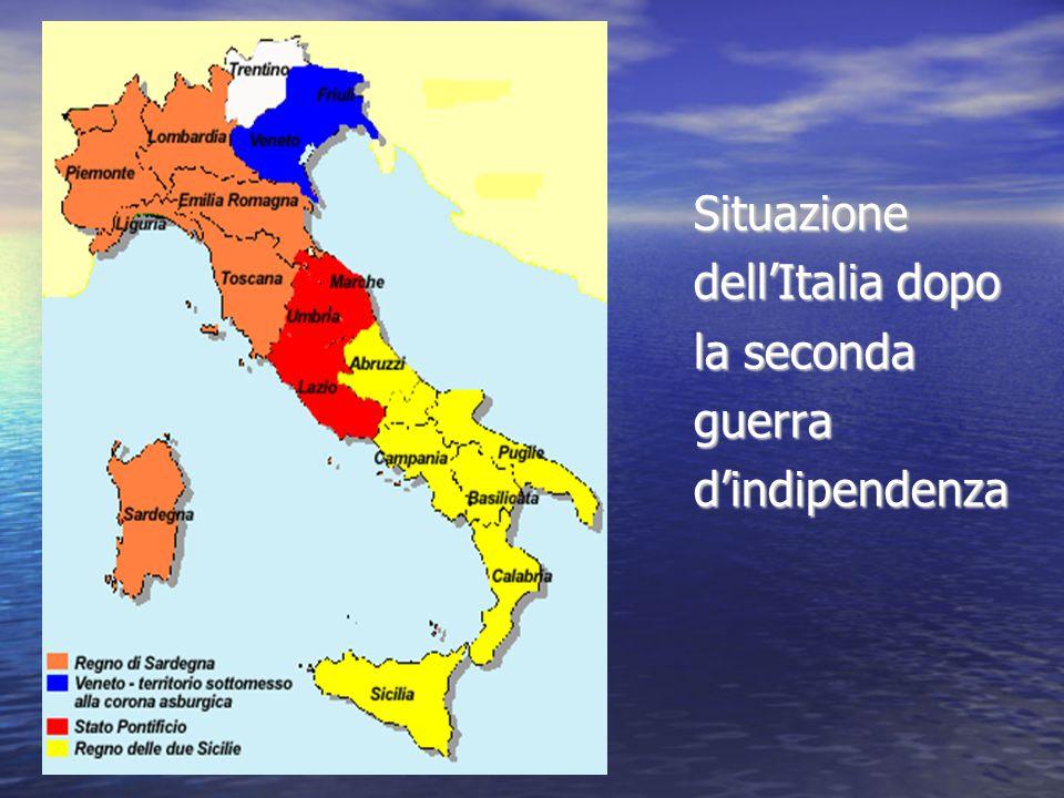 Situazione dell'Italia dopo la seconda guerrad'indipendenza
