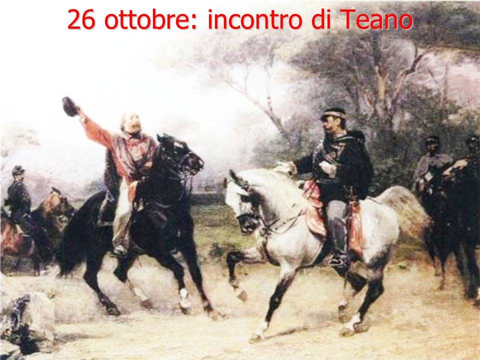 26 ottobre: incontro di Teano