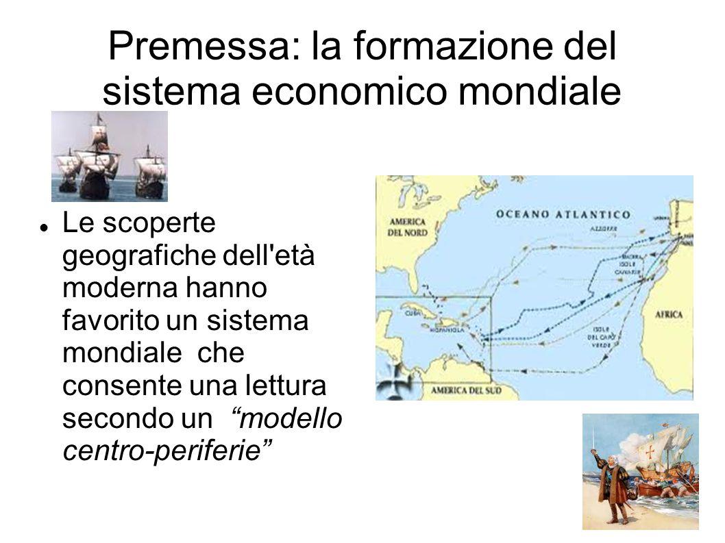Premessa: la formazione del sistema economico mondiale Le scoperte geografiche dell'età moderna hanno favorito un sistema mondiale che consente una le