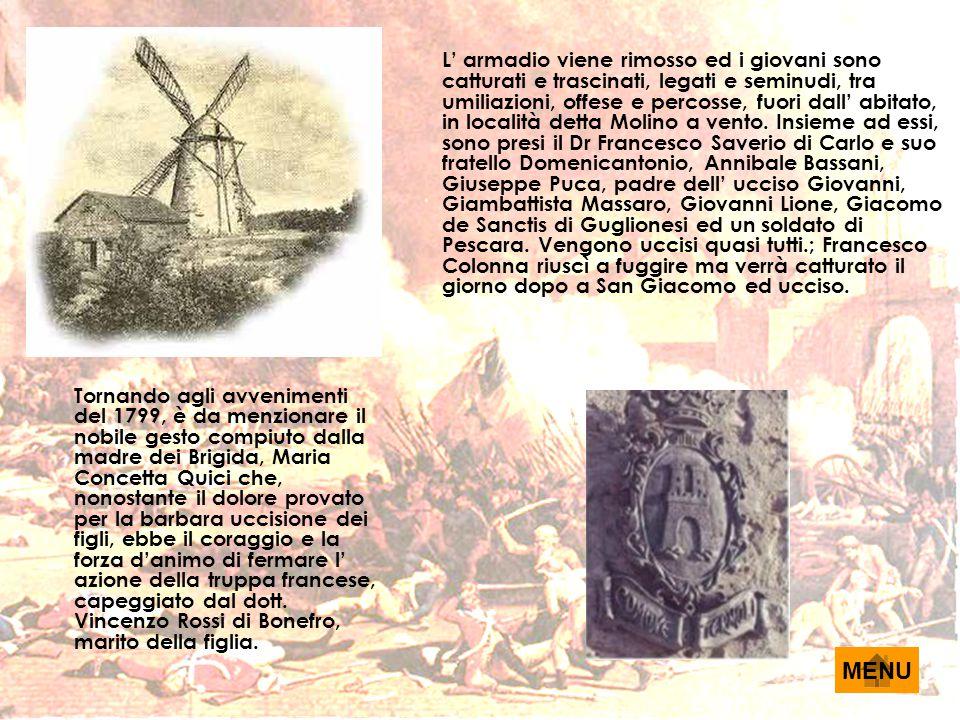 IL MOTO SANFEDISTA A CASACALENDA Per quanto riguarda la realtà di Casacalenda, essa fu eretta ad Università (Comune) all'epoca della dominazione Normanna contemporaneamente all'istituzione delle Contee ed Università di Molise, Bojano, Isernia ed altre ancora.