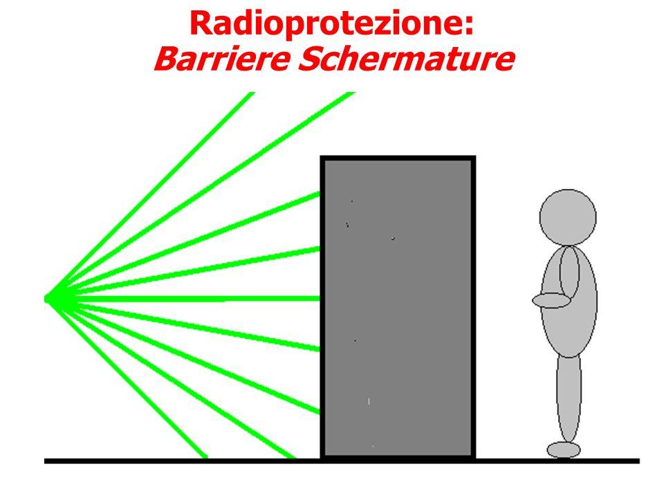 Radioprotezione: Distanza Legge dell'inverso del quadrato della distanza Distanza massima dalle sorgenti radioattive Utilizzo di pinze (emettitori β c