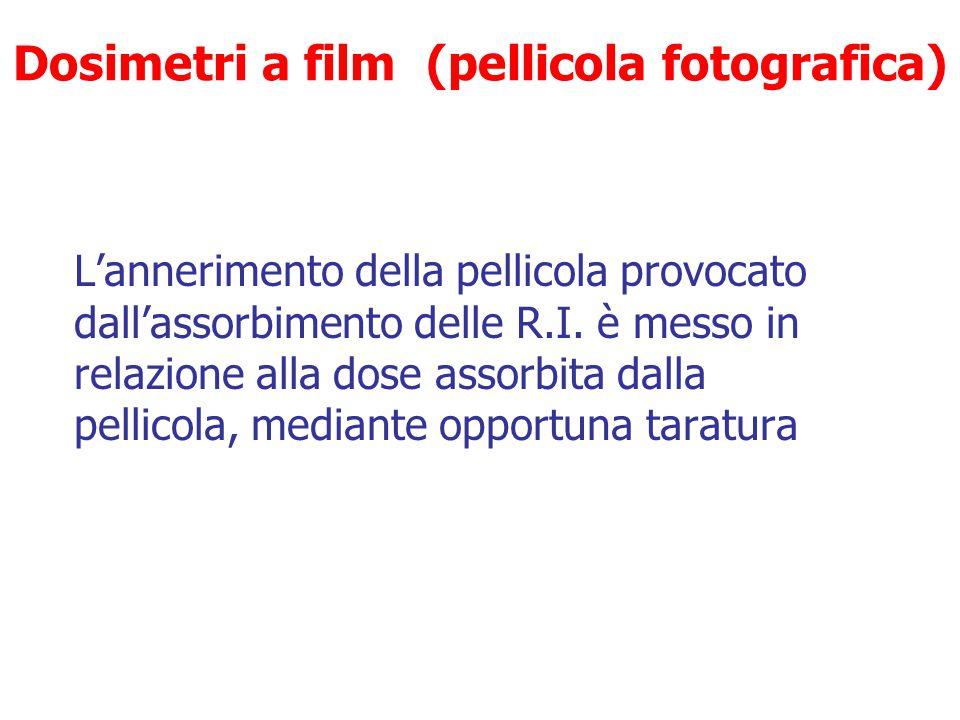 Dosimetri  A film (pellicola fotografica)  A termoluminescenza (TLD)