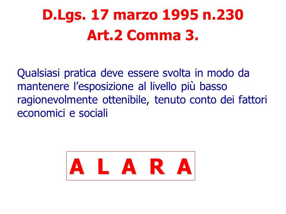 Organizzazione Aziendale nella tutela della salute degli esposti a RI D.Lgs. 17 marzo 1995 n.230 Nell'ambito delle rispettive attribuzioni e competenz