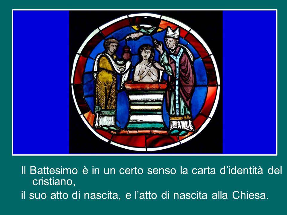 È un termine solenne che indica la grande importanza dell'oggetto, cioè del Battesimo. In effetti, pronunciando queste parole noi affermiamo la nostra