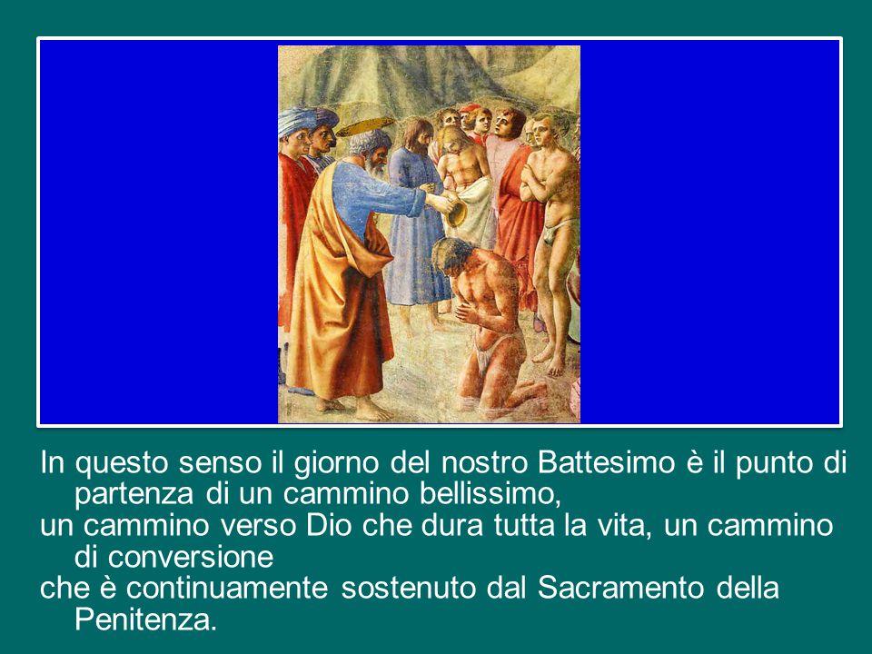 Al tempo stesso, al Battesimo è legata la nostra fede nella remissione dei peccati. Il Sacramento della Penitenza o Confessione è, infatti, come un