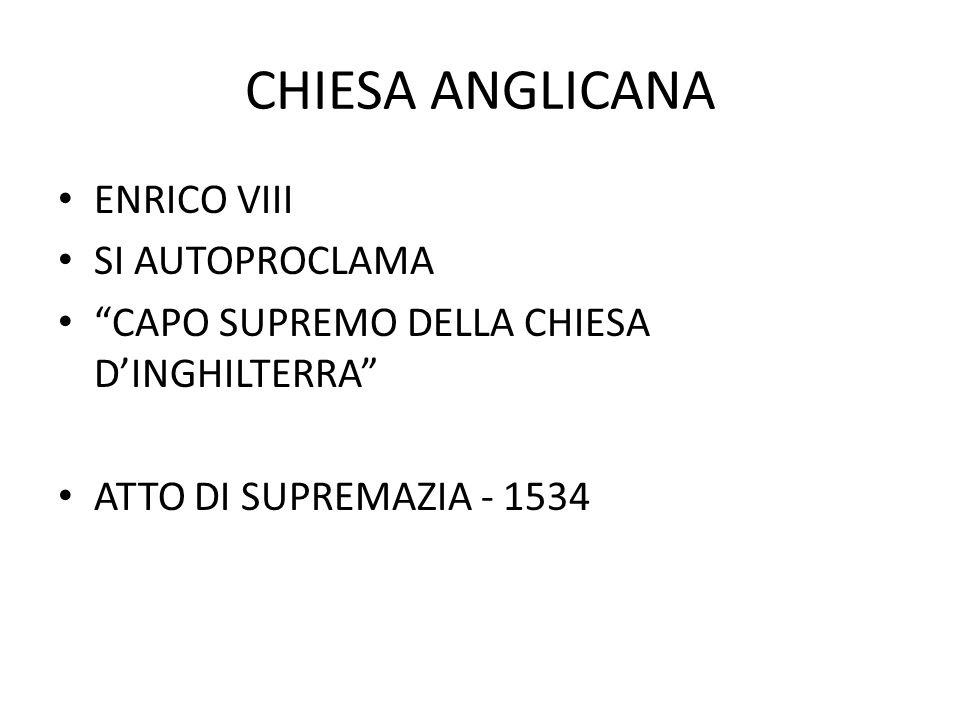 """CHIESA ANGLICANA ENRICO VIII SI AUTOPROCLAMA """"CAPO SUPREMO DELLA CHIESA D'INGHILTERRA"""" ATTO DI SUPREMAZIA - 1534"""
