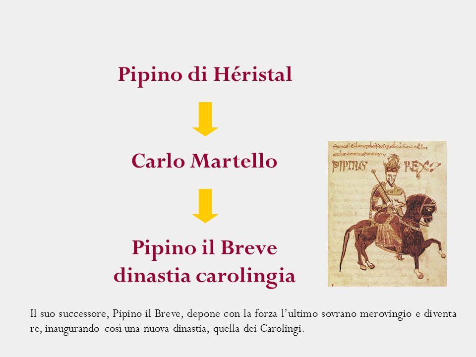 Il suo successore, Pipino il Breve, depone con la forza l'ultimo sovrano merovingio e diventa re, inaugurando così una nuova dinastia, quella dei Caro