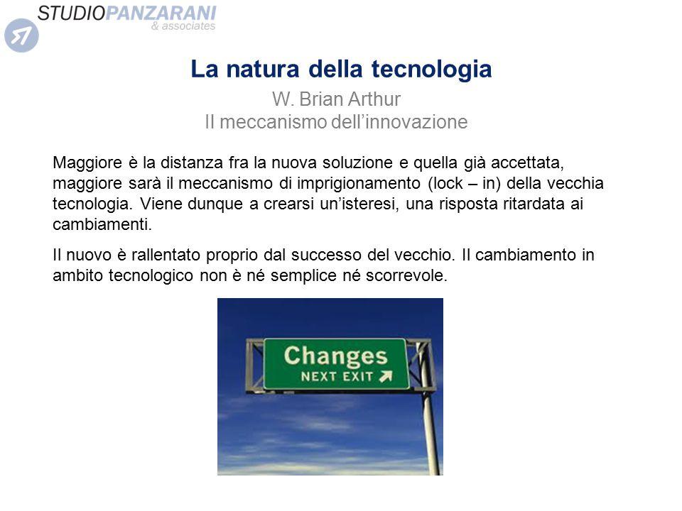 La natura della tecnologia Maggiore è la distanza fra la nuova soluzione e quella già accettata, maggiore sarà il meccanismo di imprigionamento (lock