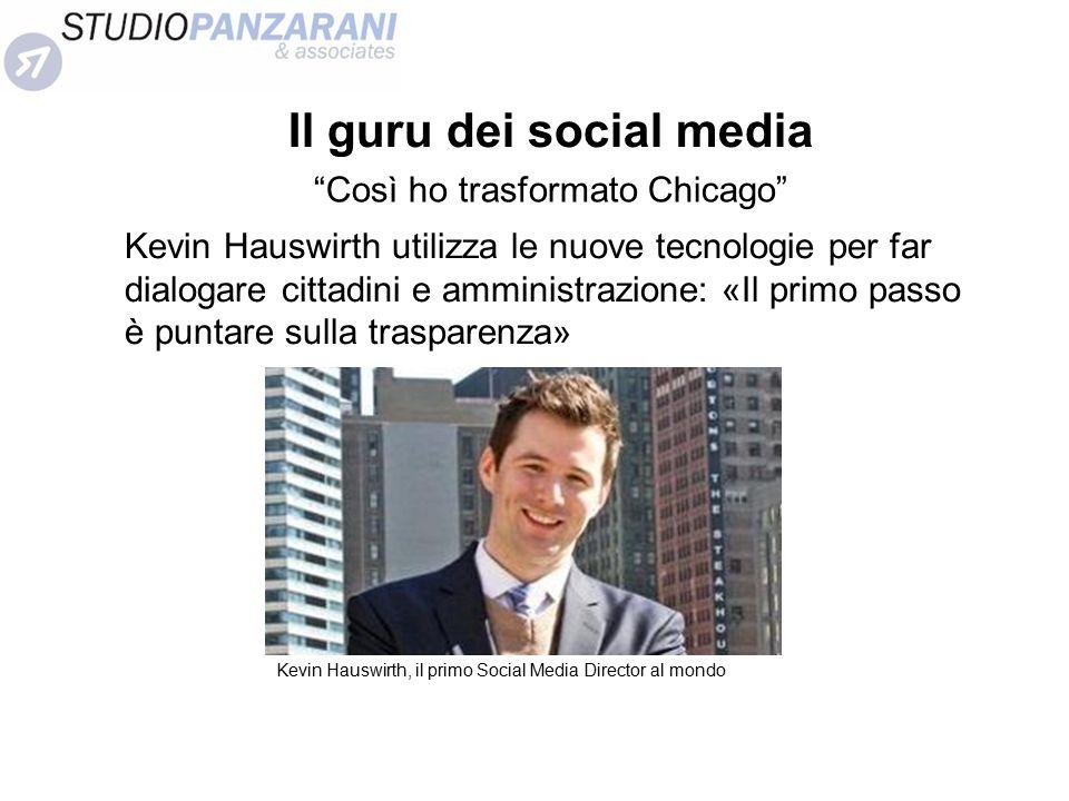 """Il guru dei social media """"Così ho trasformato Chicago"""" Kevin Hauswirth utilizza le nuove tecnologie per far dialogare cittadini e amministrazione: «Il"""