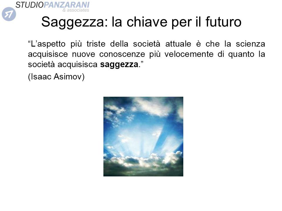 """Saggezza: la chiave per il futuro """"L'aspetto più triste della società attuale è che la scienza acquisisce nuove conoscenze più velocemente di quanto l"""
