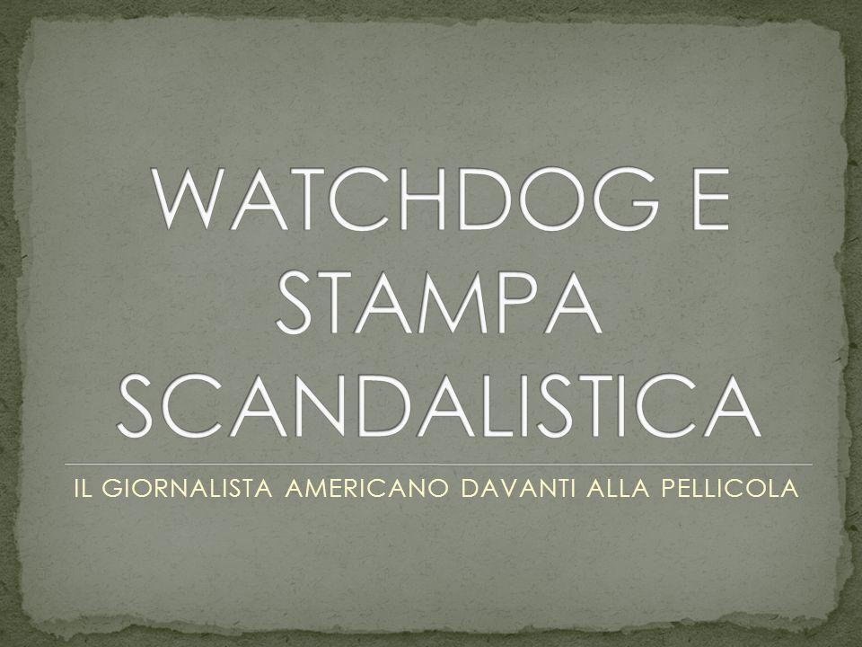 IL GIORNALISTA AMERICANO DAVANTI ALLA PELLICOLA