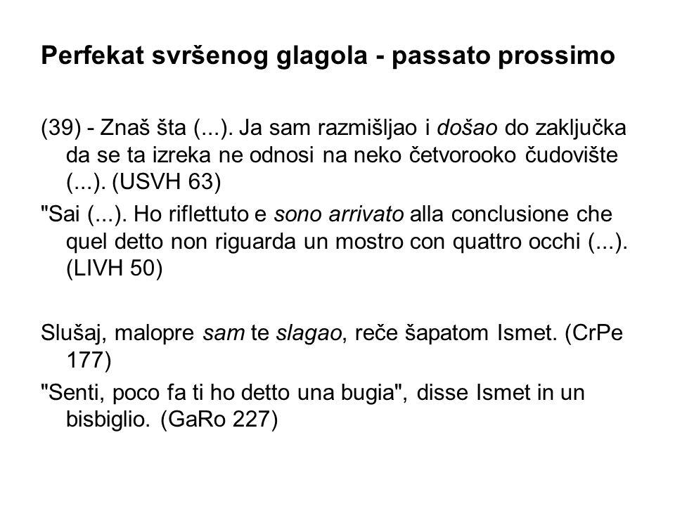 Perfekat svršenog glagola ‑ passato prossimo (39) ‑ Znaš šta (...).