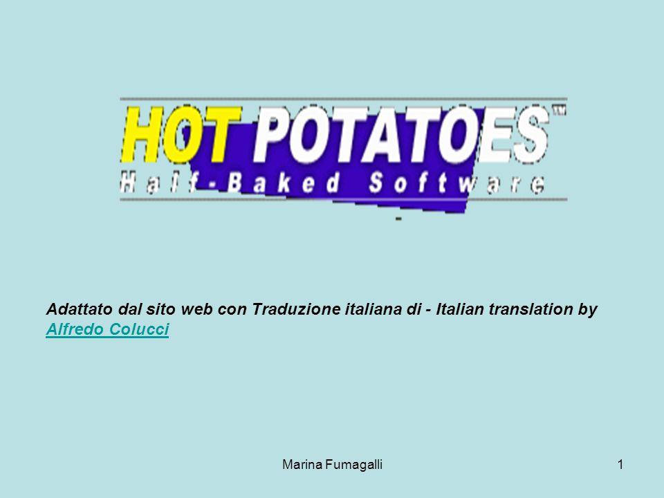 Marina Fumagalli1 Adattato dal sito web con Traduzione italiana di - Italian translation by Alfredo Colucci Alfredo Colucci