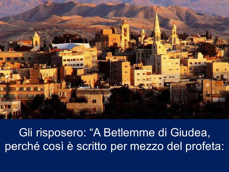 Riuniti tutti i sommi sacerdoti e gli scribi del popolo, s'informava da loro sul luogo in cui doveva nascere il Messia.