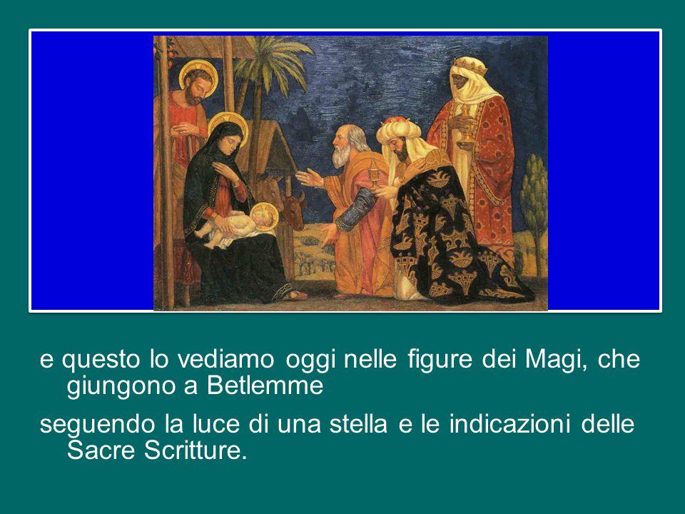 La fede di Maria diventa la primizia e il modello della fede della Chiesa, Popolo della Nuova Alleanza. Ma questo popolo è fin dall'inizio universale,