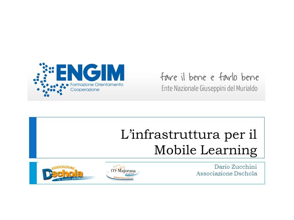 L'infrastruttura per il Mobile Learning Dario Zucchini Associazione Dschola