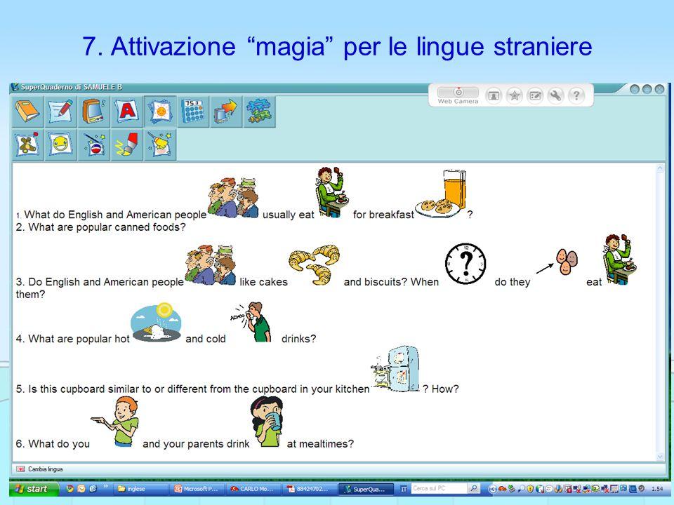 """7. Attivazione """"magia"""" per le lingue straniere"""
