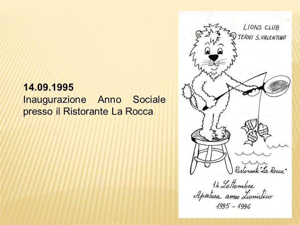 14.09.1995 Inaugurazione Anno Sociale presso il Ristorante La Rocca