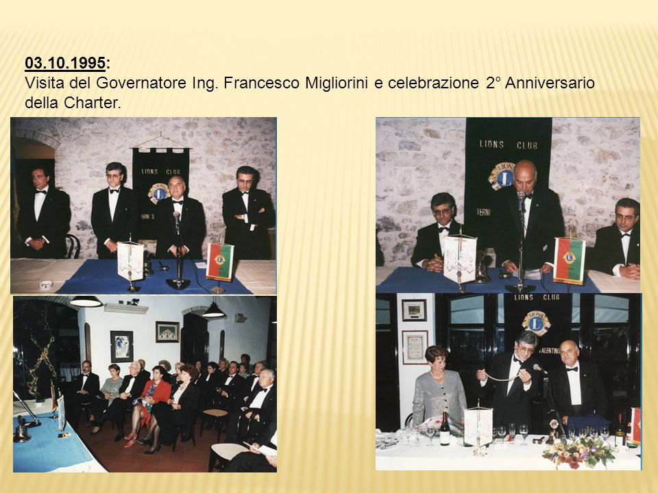 03.10.1995: Visita del Governatore Ing.