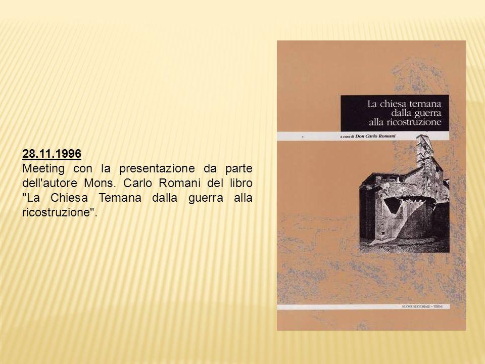 28.11.1996 Meeting con la presentazione da parte dell autore Mons.