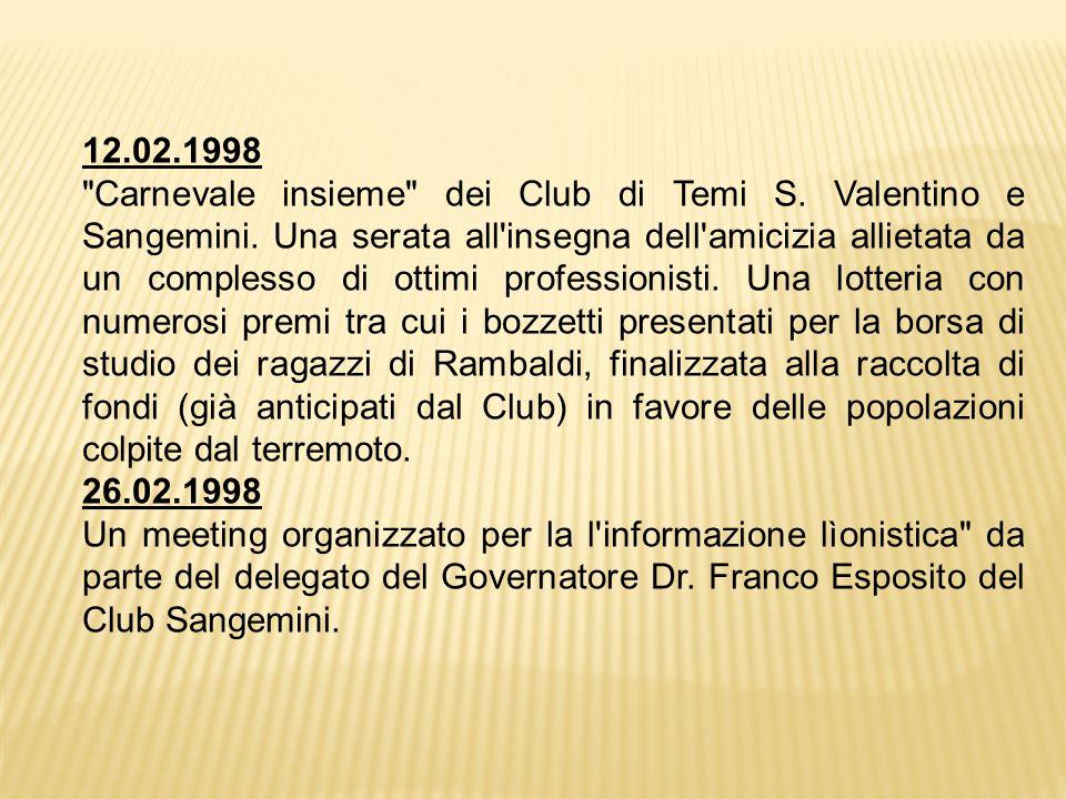 12.02.1998 Carnevale insieme dei Club di Temi S.