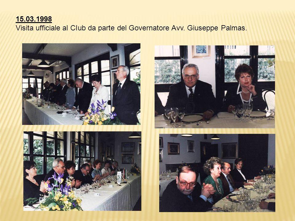 15.03.1998 Visita ufficiale al CIub da parte del Governatore Avv. Giuseppe Palmas.
