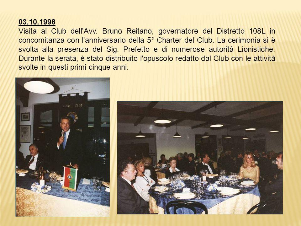 03.10.1998 Visita al Club dell Avv.