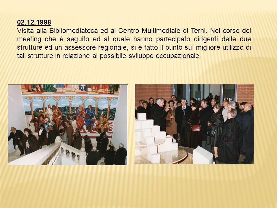 02.12.1998 Visita alla Bibliomediateca ed al Centro Multimediale di Terni.