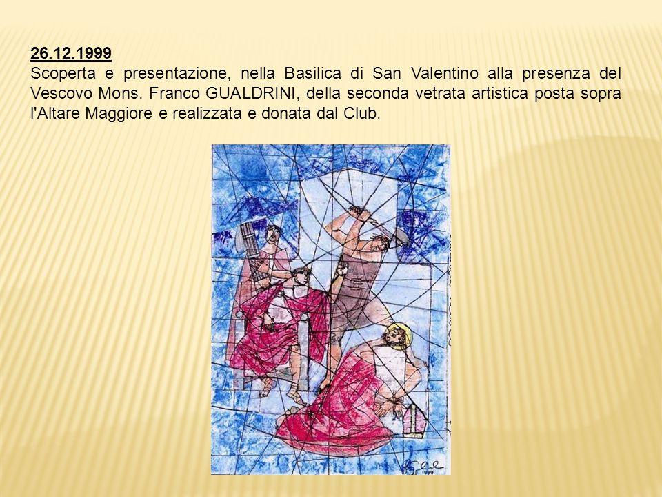 26.12.1999 Scoperta e presentazione, nella Basilica di San Valentino alla presenza del Vescovo Mons.