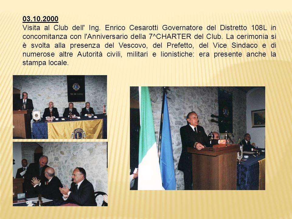 03.10.2000 Visita al Club dell Ing.