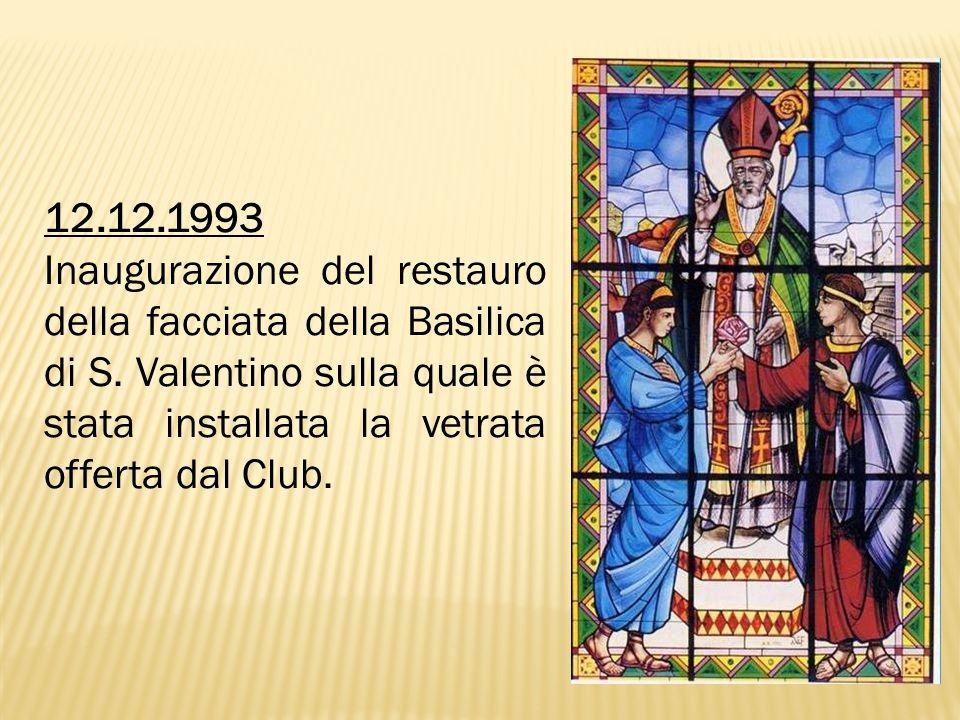 12.12.1993 Inaugurazione del restauro della facciata della Basilica di S.