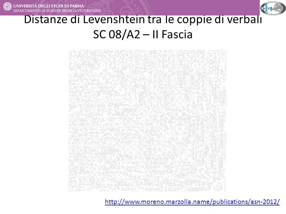 Distanze di Levenshtein tra le coppie di verbali SC 08/A2 – II Fascia http://www.moreno.marzolla.name/publications/asn-2012/
