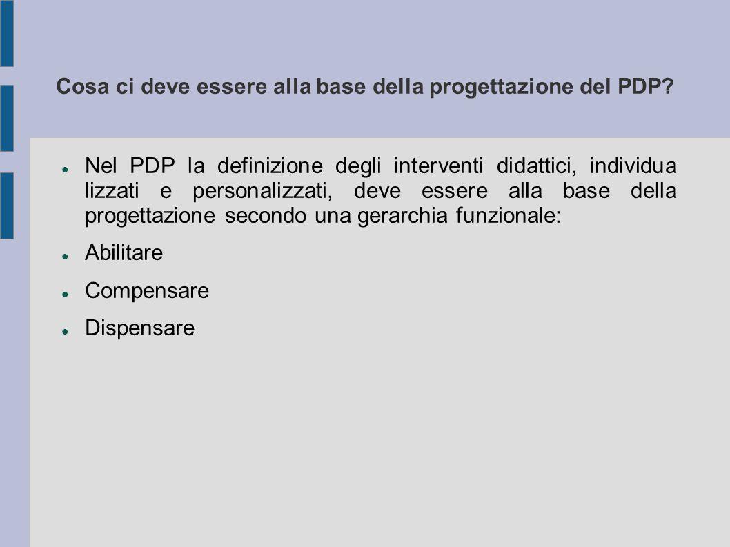 Cosa ci deve essere alla base della progettazione del PDP? Nel PDP la definizione degli interventi didattici, individua lizzati e personalizzati, deve