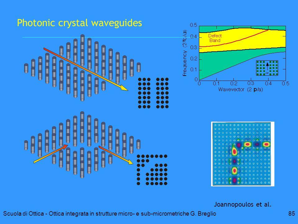 85Scuola di Ottica - Ottica integrata in strutture micro- e sub-micrometriche G. Breglio Photonic crystal waveguides Joannopoulos et al.