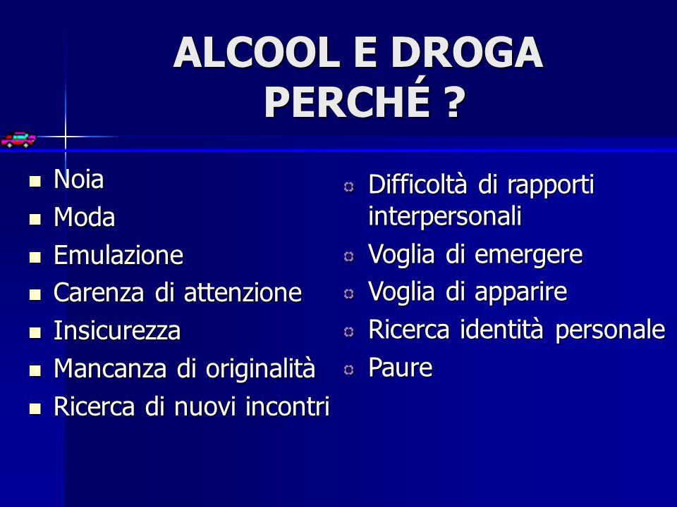 ALCOOL E DROGA PERCHÉ .