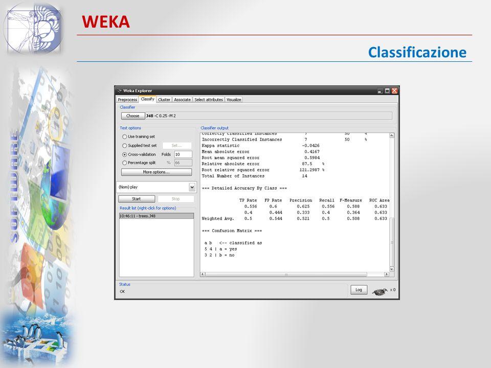 Classificazione WEKA
