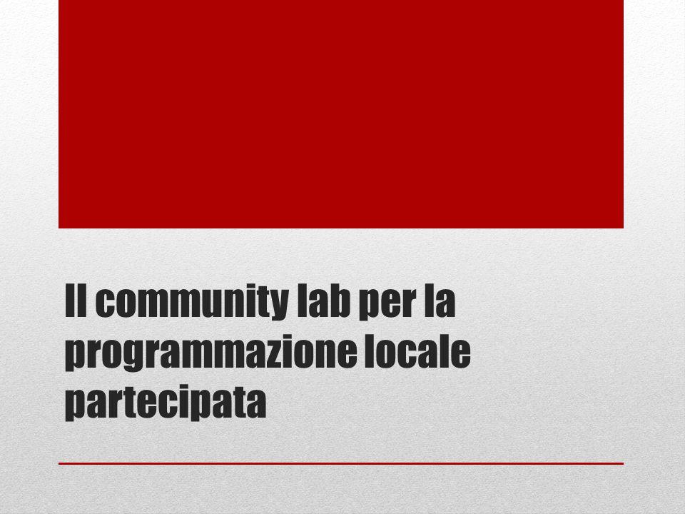 Il community lab per la programmazione locale partecipata