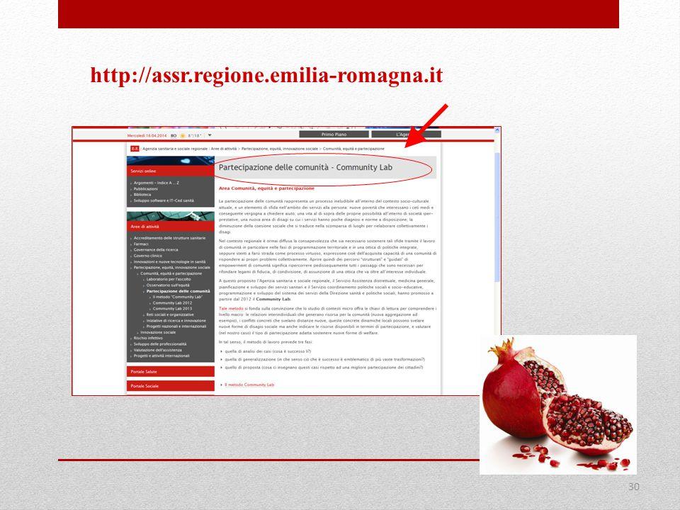 30 http://assr.regione.emilia-romagna.it