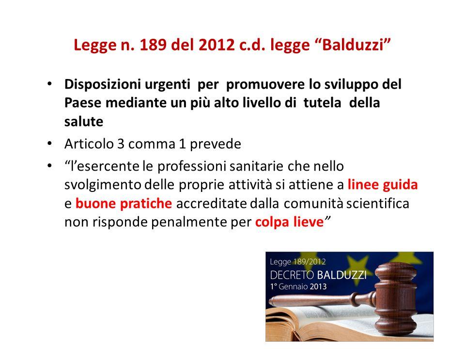 Legge n. 189 del 2012 c.d.